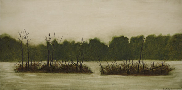 Oil on Canvas - 24 x 12