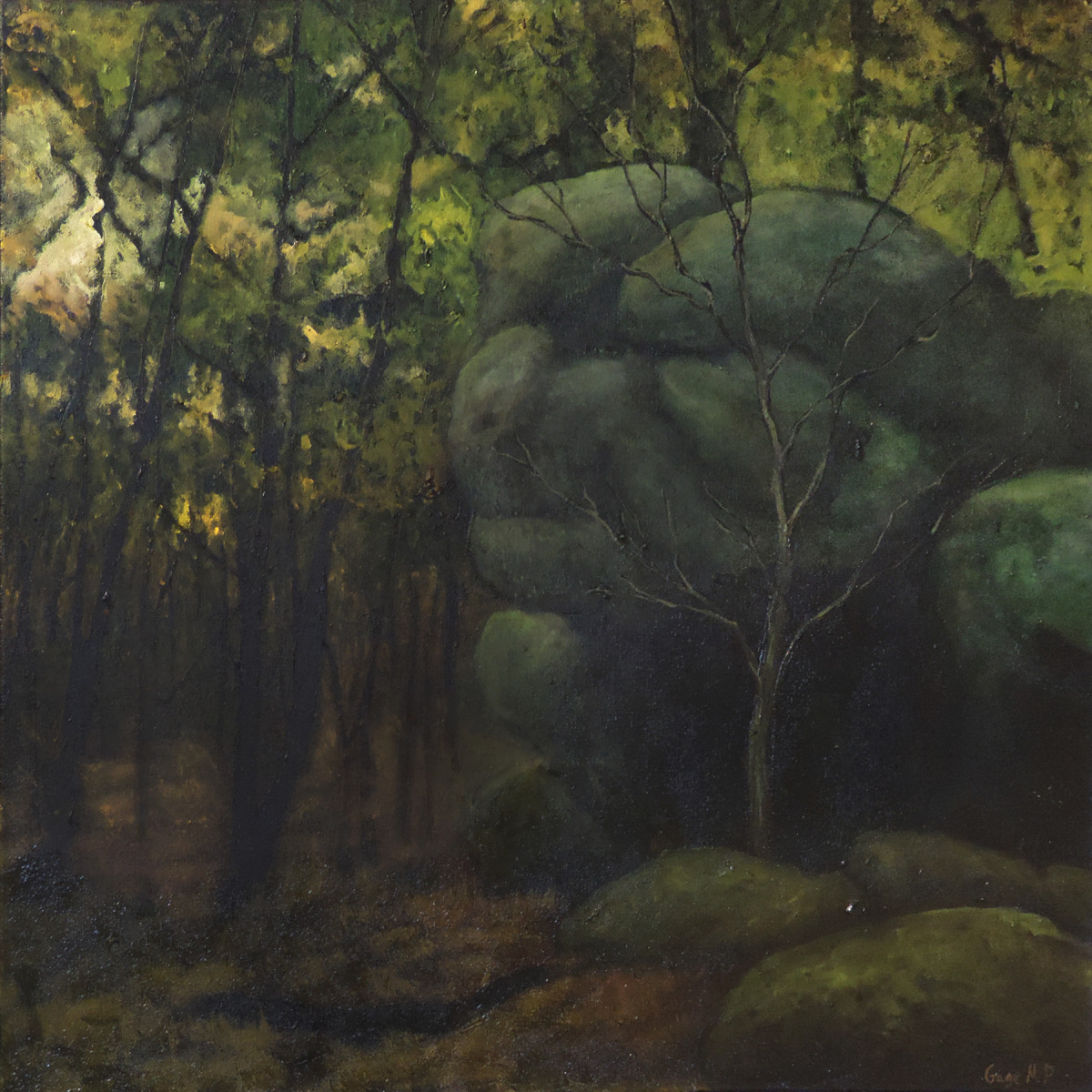 Lincoln Woods 14 - August - Oil on Canvas - 24 x 24