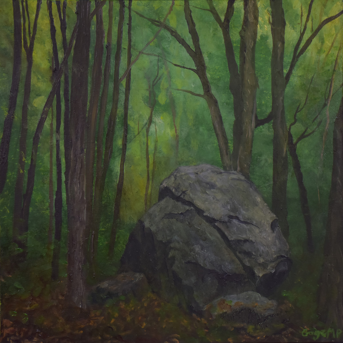 Lincoln Woods 18 - 10 x 10 - Oil on board