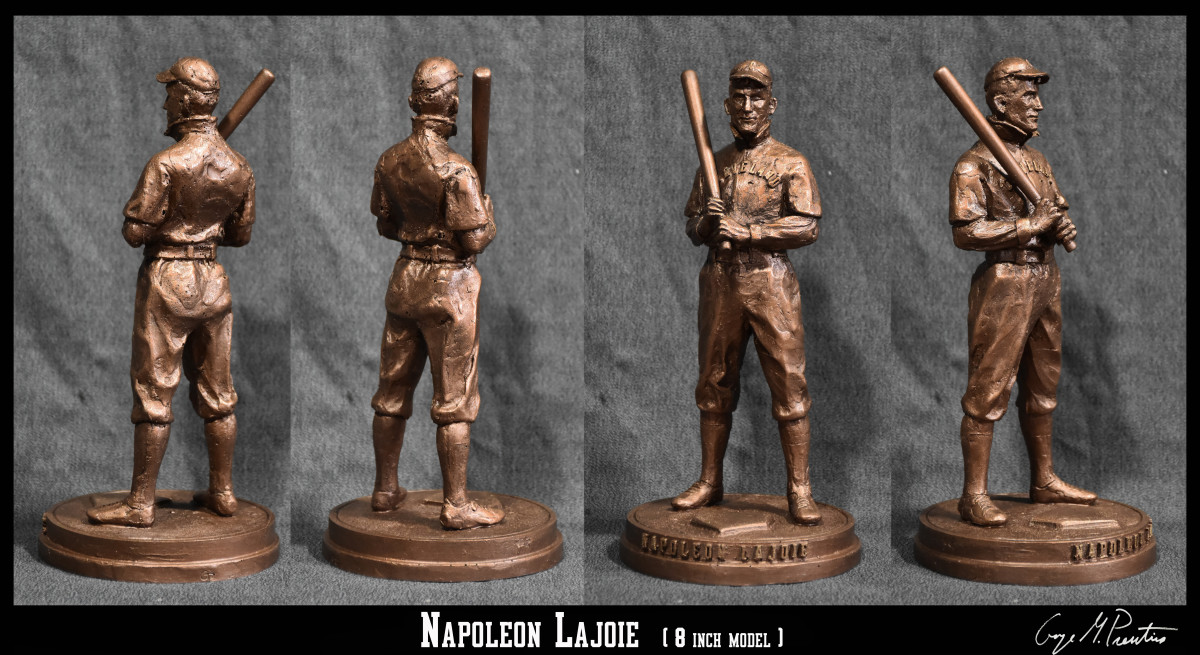 8 inch concept model for Napoleon Lajoie life size bronze.